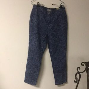 Chico's jeans Size 1 ankle floral design NWT